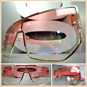 Sur Soleil Haut Monture Oramp; Rose Lunettes Moderne Mode Détails Bouclier De Luxe Gamme Style 80mNnw