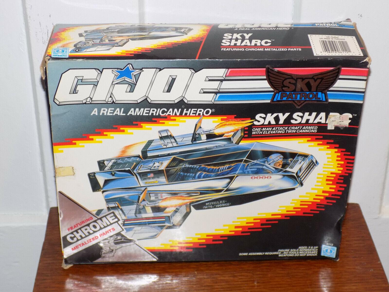 GI Joe Sky Patrol Sky Chrome Sharc with Box 1989