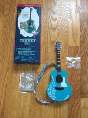 NEW- American Girl Tenney Grant  Meet Accessories Guitar, Strap, Pick & Notebook