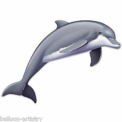 "68.5"" Tropical LEAPING DOLPHIN Summer Party Giant Jointed Cutout Decoration"