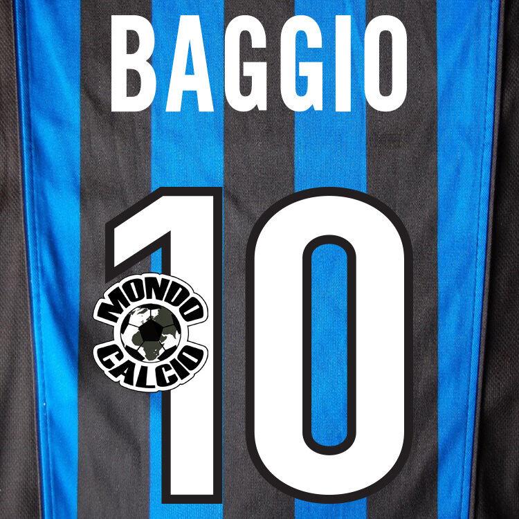 BAGGIO ENSEMBLE À PERSONNALISER INTER IMPRIMÉ NOME NOMBRE HOME ENSEMBLE BAGGIO NOM 1998-99 ea83a2