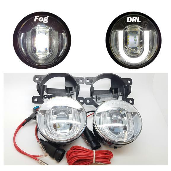DRL LED 5000K Front Fog Lights Lamps 1 x Pair - Ford Fiesta ST150 MK7 (2008-)
