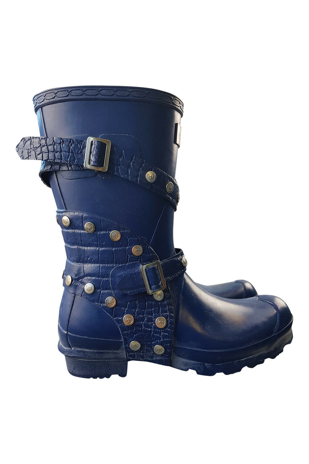 HUNTER LIMITED EDITION Blau Blau Blau FESTIVAL Stiefel SHORT (4) 136eb8