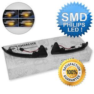Dynamische LED Spiegelblinker Blinker Schwarz 2x Für Audi A7 S7 4G 2010