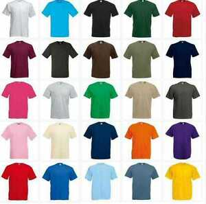 NEW-KIDS-GIRLS-BOYS-CHILDRENS-COTTON-PLAIN-FRUIT-OF-THE-LOOM-T-SHIRT-AGE-1-15