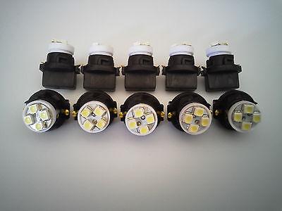 Fit Nissan 10 White 4 LED Dashboard Instrument Panel Indicator Light Bulb Socket
