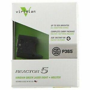 Viridian R5gen2p365 Reactor 5 Gen 2 Green Laser Sight for Sig P365 W/  Holster
