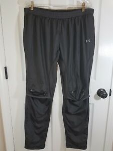 Under-Armour-Pants-Womens-Cold-Gear-Semi-Fitted-Rip-Stop-Gray-XL-Vent-Knee