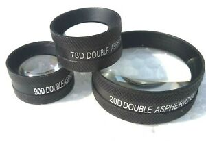 Ophthalmic-Lens-Combo-Pack-20D-90D-amp-78D-Free-Shipping-Lens-Set-of-Three-Medico