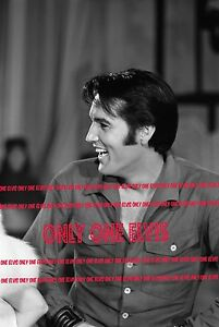 Details about ELVIS PRESLEY on TELEVISION 1968 Photo NBC COMEBACK SPECIAL  Smiling Profile 02