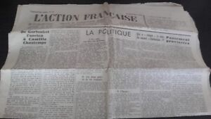 Journal Nationalist L Action Figure French 20 Mars 1934 N° 79 ABE