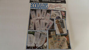 Leisure Arts Charts For Less - Bookmarks Galore - 66 Cross Stitch Designs - 1997