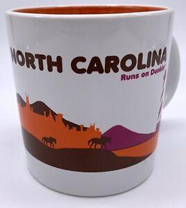 Dunkin Donuts North Carolina Ceramic Coffee Cup Mug Destination Runs State 2012