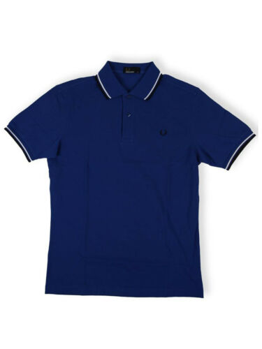 Fred PERRY POLO BLU/Bianco/Navy m1200 732 5674