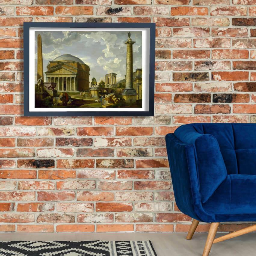 Giovanni Pauolo Panini - Fantasy View Wall Art Poster Print