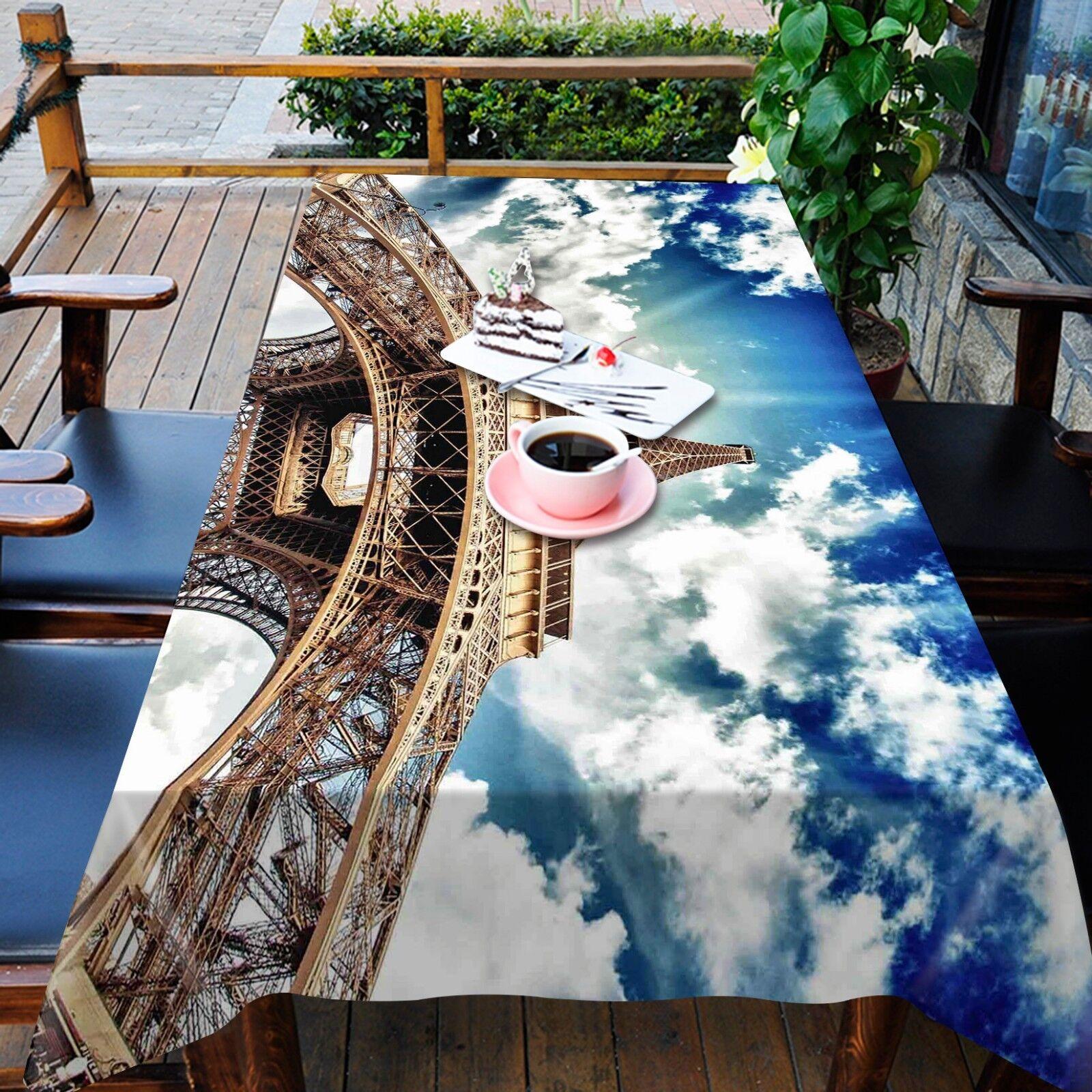 3D Sky Tower 068 Tablecloth Table Cover Cloth Cloth Cloth Birthday Party Event AJ Summer f8b53e