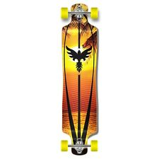 Sunset graphics Lowrider Drop down through Longboard Complete skateboard cruise