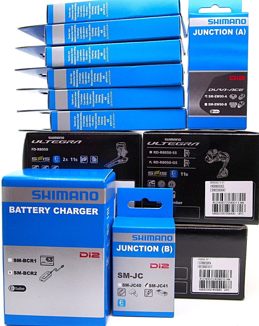 Shimano Ultegra Di2 R8050 Shifter & Derailleurs & EW90-A+JC41 & SM-BCR2 & Wires
