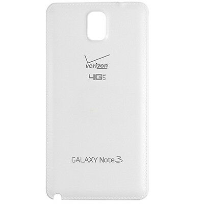 Samsung Galaxy Note 3 Verizon N900V Back Cover Battery Door White Replacement