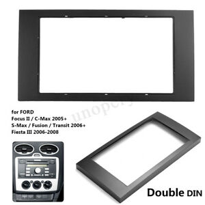 Car-Stereo-Radio-Fascia-Panel-Surround-Plate-Adaptor-For-Ford-Focus-C-Max-Fiesta