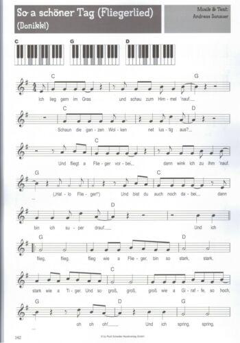 100 Kinderlieder für Keyboard Keyboard Noten sehr leicht leicht