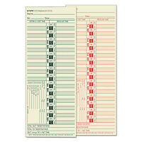 Tops Time Card For Lathem Bi-weekly Two-sided 3 1/2 X 9 500/box 1275 on sale