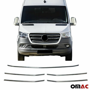 For Mercedes Sprinter 2019 2020 Chrome Front Grill Trim Cover S Steel 5 Pcs Ebay