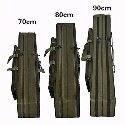 Fashion Fishing Rod Holdall Bags Organizer Tackle Rod Carry Case 70-90cm Outdoor