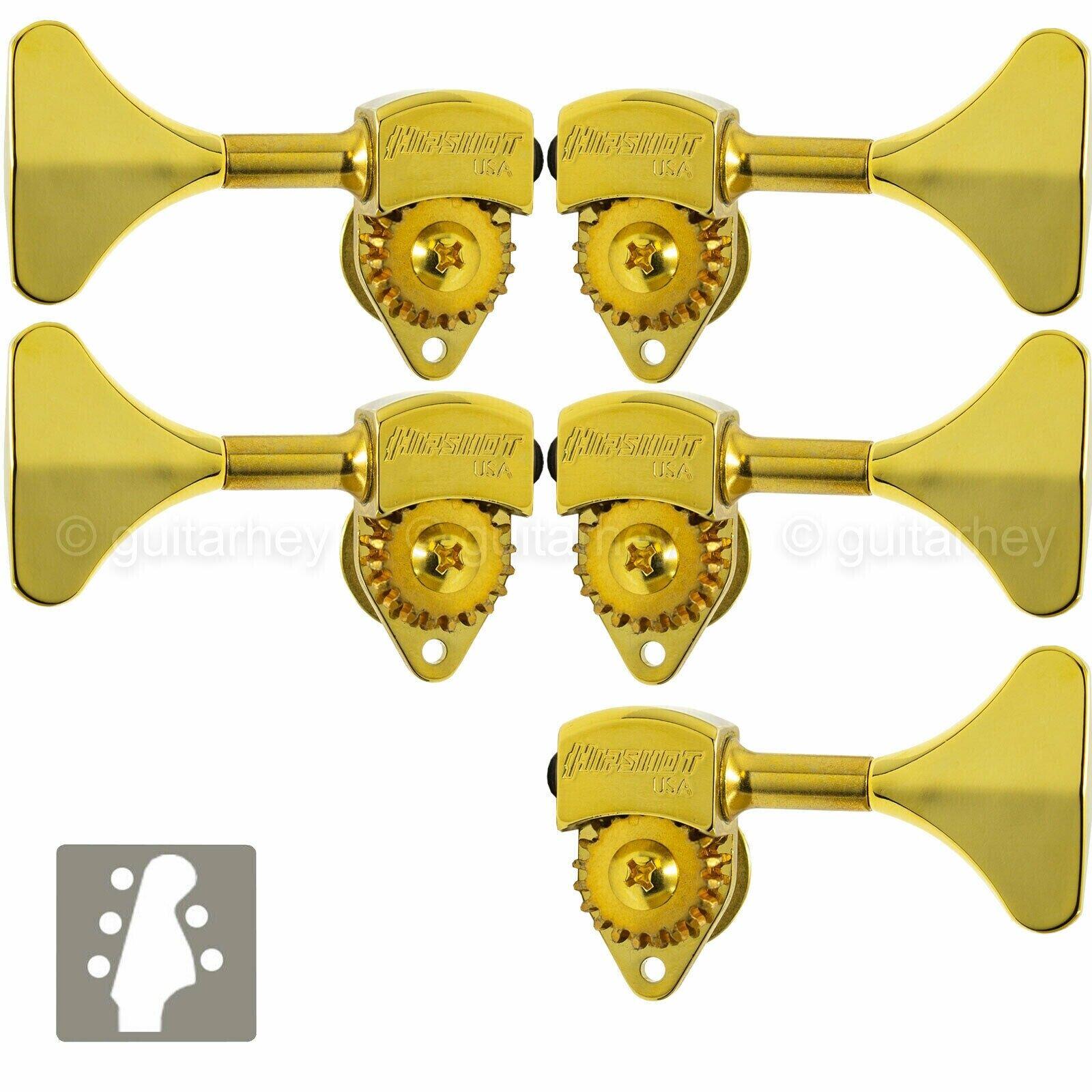 NEW Hipshot HB6 3 8  Ultralite® Bass Tuning L3+R2 Set Y Key 3x2 - Gold