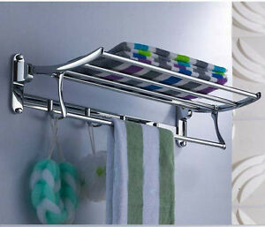 New Luxury Bathroom Brass Wall Mounted Chrome Clothes