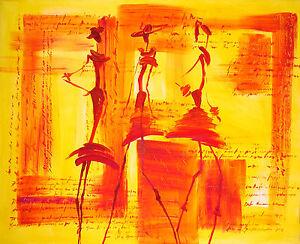 Bild-Abstrakt-Acryl-BelAir-Original-Figuerlich-Erotik-Frau-Mode-woman-60x80-Neu