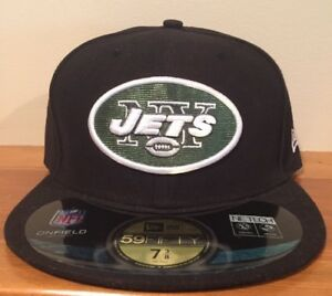 f45ccc039993d7 New York Jets NFL New Era 59FIFTY Hat On Field Fitted New Cap Size 7 ...