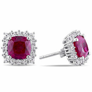 Sterling-Silver-Created-Ruby-and-Created-White-Sapphire-Halo-Stud-Earrings