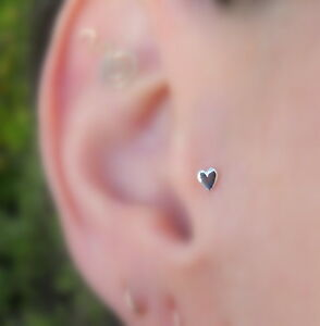 6ee555166 Image is loading Tragus-Earring-Nose-Ring-Piercing-Stud-Earring-Sterling-