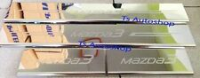 SCUFF PLATE SILL 4 DOOR STAINLESS STEEL COVER FOR MAZDA 3 MAZDA3 4DR SEDAN 2014