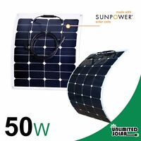 Unlimited Solar 50 Watt 12 Volt High Efficiency Flexible Solar Panel