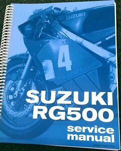 SUZUKI RG500 Gamma Shop Service Manual HARD COPY 1985 1986 1987  RG500 C H