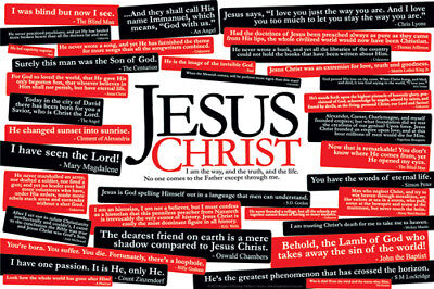 quotes about jesus christ christian inspirational wall poster