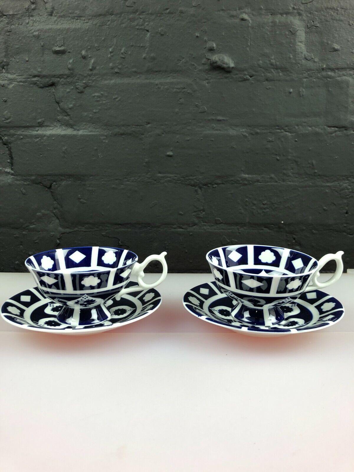 Image 1 - 2 x Royal Crown Derby Unfinished Imari 1128 Elizabeth Tea Cups & Saucers 5 Sets