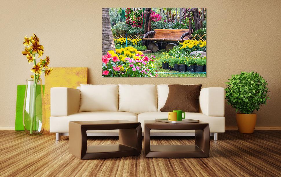3D Hell  Hof Garten Stuhl  9042 Fototapeten Wandbild BildTapete AJSTORE DE Lemon