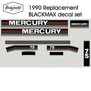 Mercury-Outboard-decals-1990-75hp-Replacement-decals