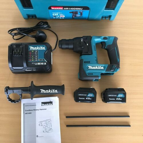 KIT * Makita HR 140 DSMJ 10.8 V CXT 2x4.0Ah 14 mm Li-ion SDS Plus Rotary Hammer