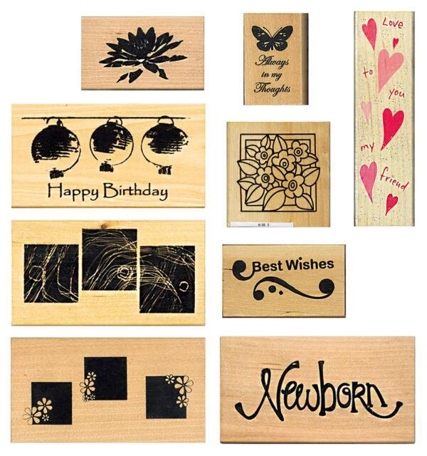 Hero Arts Floral Flower S5356 Rubber Stamp Stamper RARE 0535