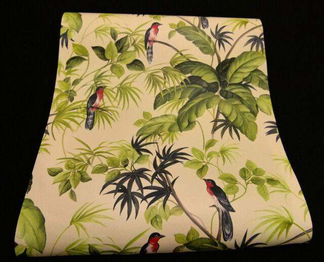 "05550-40) 6 Rollen superschicke Design Tapete ""Tropical Paradise"" Paradies-Vogel"