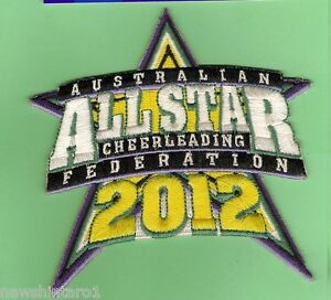 #D91.  2012  AUSTRALIAN ALLSTAR  CHEERLEADING  FEDERATION CLOTH PATCH