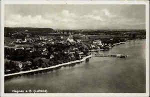 Hagnau-am-Bodensee-alte-Postkarte-1930-40-Gersamtansicht-Luftbild-ungelaufen