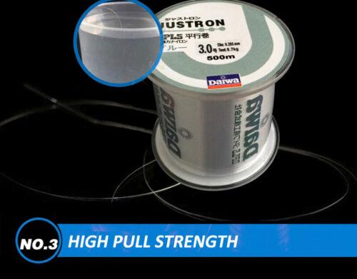 Nylon Fishing Line 500Meter Super Strong Justron 2LB 40LB With Plastic Box