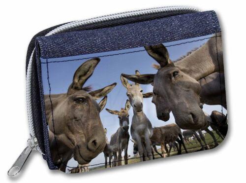 DONK-2JW Donkeys Intrigued by Camera Girls//Ladies Denim Purse Wallet Christmas