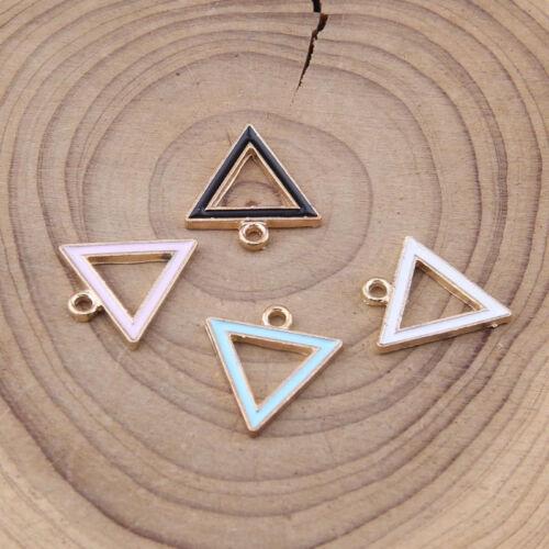 Figura geométrica Esmalte 10pc cuentas encanto colgante pendiente de toma de pulsera 1111#