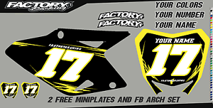 Suzuki RM 80-85 00-16 Pre Printed Number plate Backgrounds BOLT SERIES